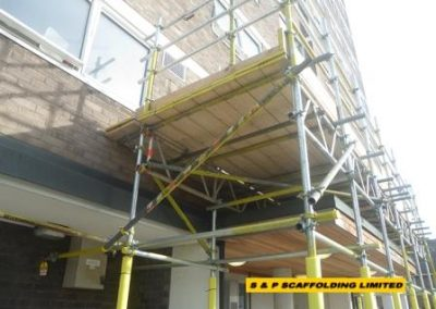 Beam scaffolding