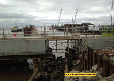 Designed walkway scaffolding