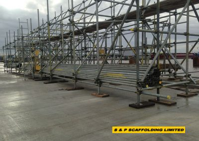 Drop scaffolding