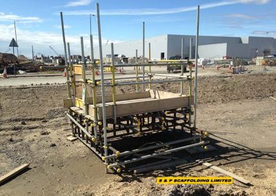 Emergencyy platform scaffolding
