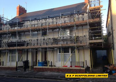 External wall insulations scaffolding