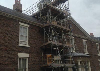 Historic scaffolding