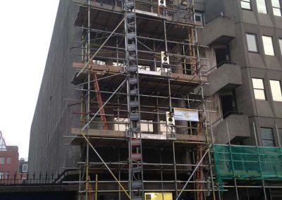 Hoist tower scaffolding