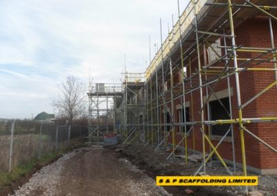 New build care home scaffolding