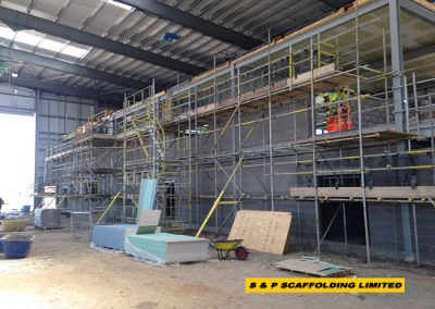 New build commercial scaffolding