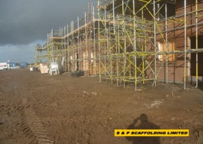 New housing scaffolding