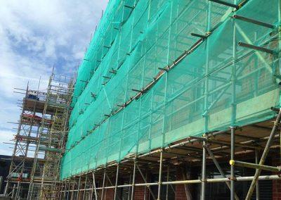 New school scaffolding