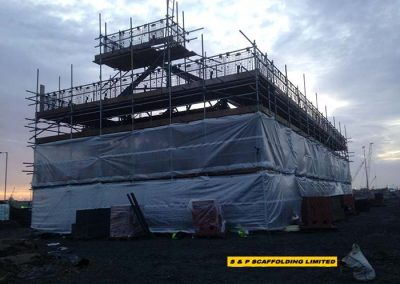 New sub station scaffolding