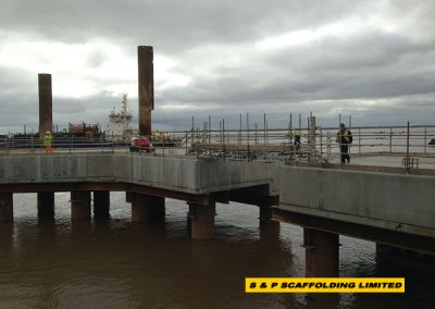Port scaffolding