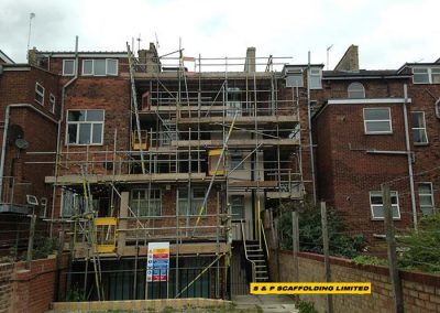 Refurbishment scaffolding