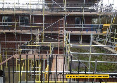 School refurbishment scaffolding