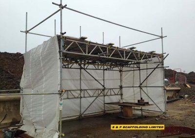 Smoking shelter scaffolding