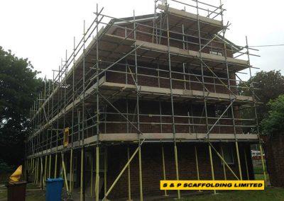 Social housing scaffolding