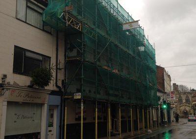 Street scaffolding